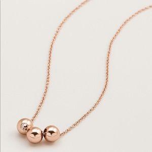 Gorjana Newport Rose Gold Adjustable Necklace NWT